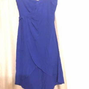 New ASTR Blue Strapless Mini Dress Size L